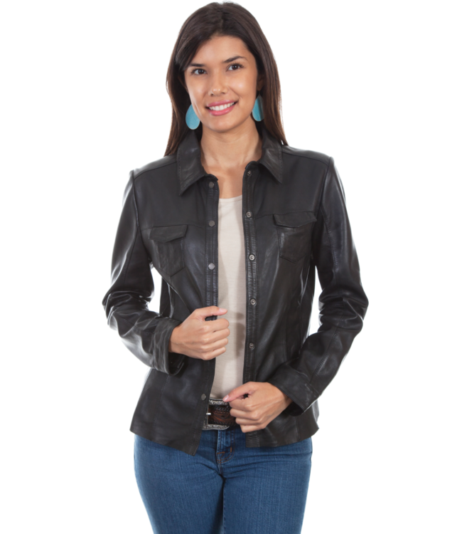 Scully Snap Front Lamb Leather Jacket