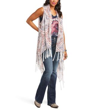 Ariat Texas Heat Print Kimono Vest