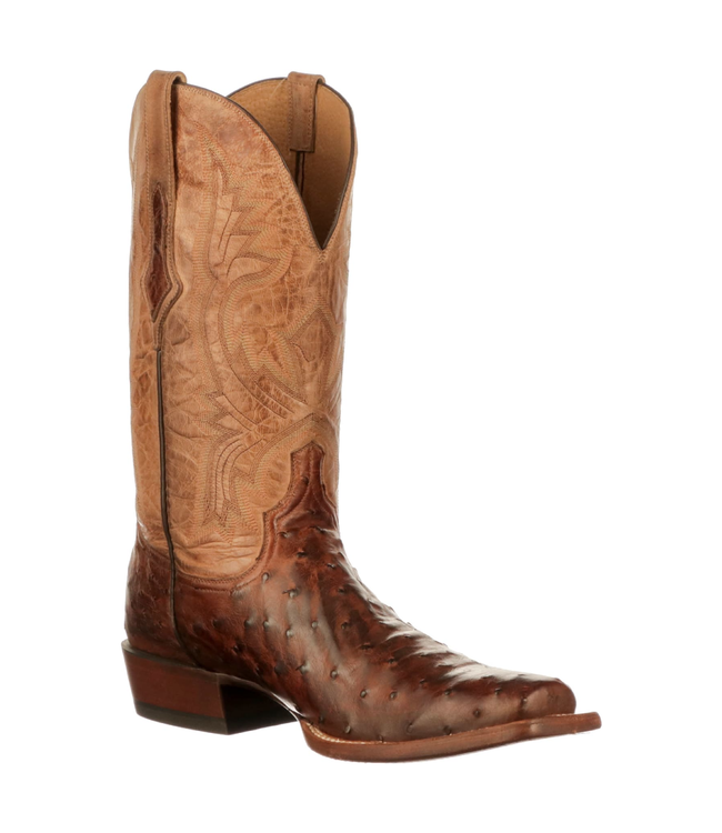 Lucchese Cliff Full Quill Ostrich Boot