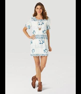 Wrangler Scalloped Hem Print Dress