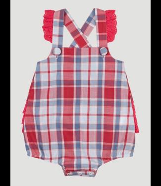 Wrangler Infant Girls Sleeveless Plaid Romper