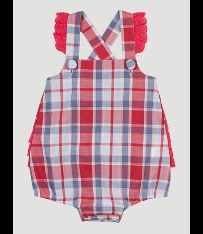 Wranger Infant Girls Sleeveless Plaid Romper