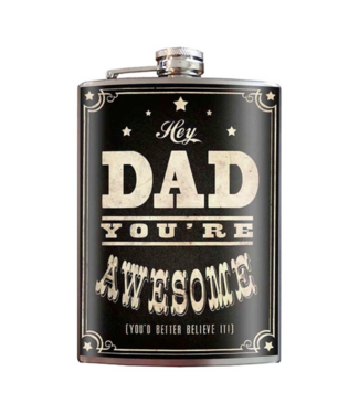 Trixie & Milo Dad Flasks with Funnel, Multiple Design Options