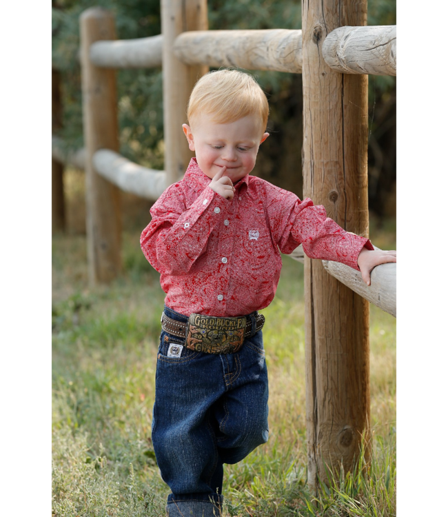 Cinch Infant Boys Paisley Long Sleeve Button Shirt