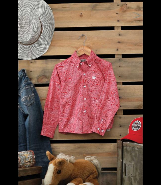 Cinch Toddler Boys Paisley Long Sleeve Button Shirt