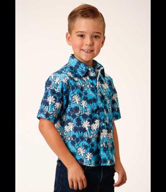 Stetson & Roper Apparel Roper Boys Fitted Short Sleeve Snap Shirt