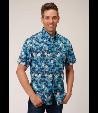 Stetson & Roper Apparel Roper Fitted Beach Print Shirt