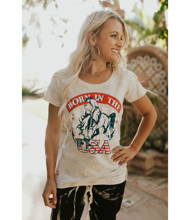 Rodeo Quincy Born In The USA Tee