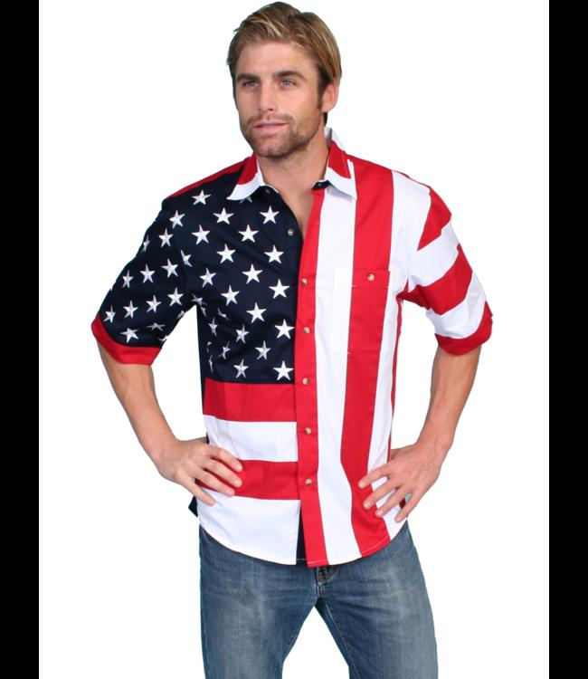 Scully Stars & Flag Shirt
