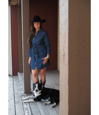 Wrangler Long Sleeve Western Shirt Dress