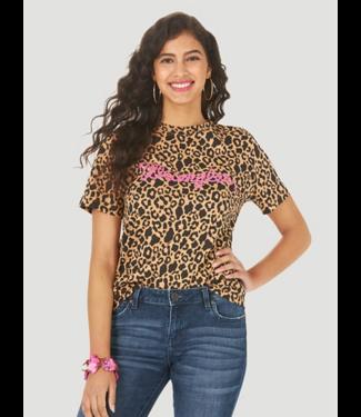 Wrangler Leopard Relaxed Print Logo Tee