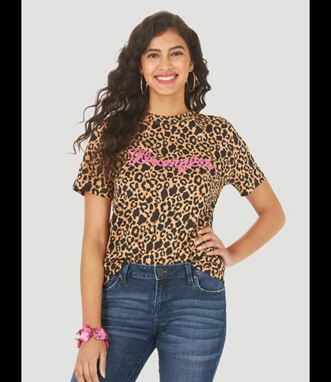 Wrangelr Leopard Relaxed Print Logo Tee
