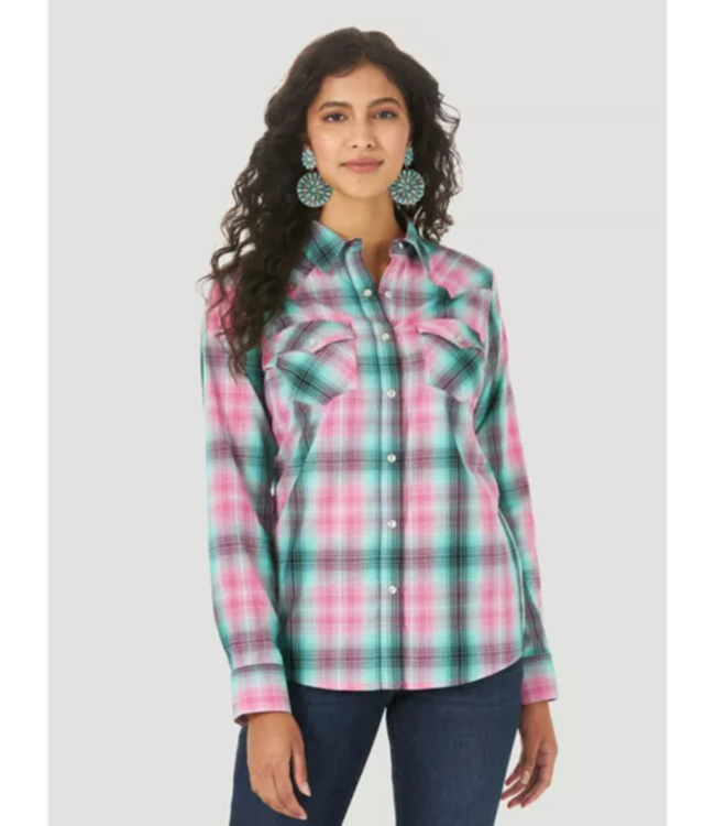 Wrangler Western Snap Plaid Shirt