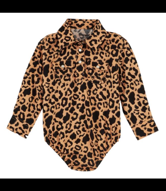 Wrangler Infant Girl Leopard Print Onesie