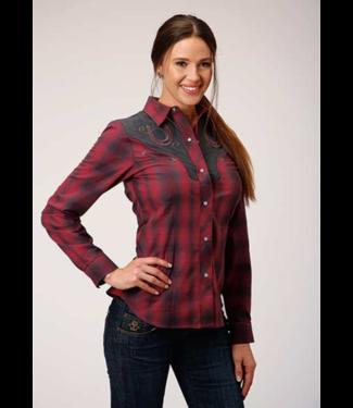 Stetson & Roper Apparel Women's Roper Horseshoe Plaid Shirt