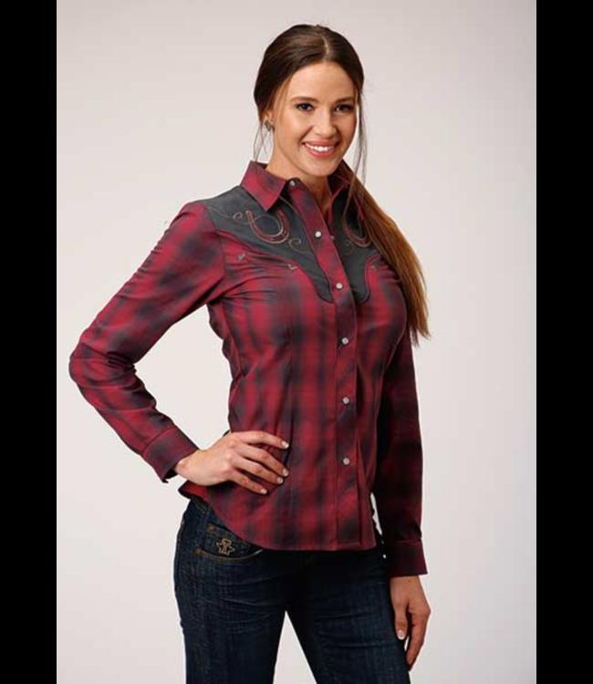 Women's Roper Horseshoe Plaid Shirt