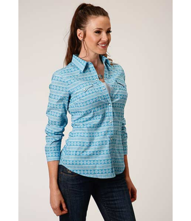 Roper Fitted Print Shirt