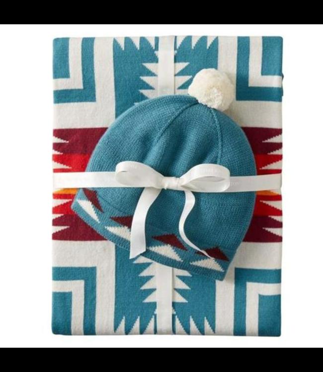 Pendleton Knit Baby Blanket, Harding Teal