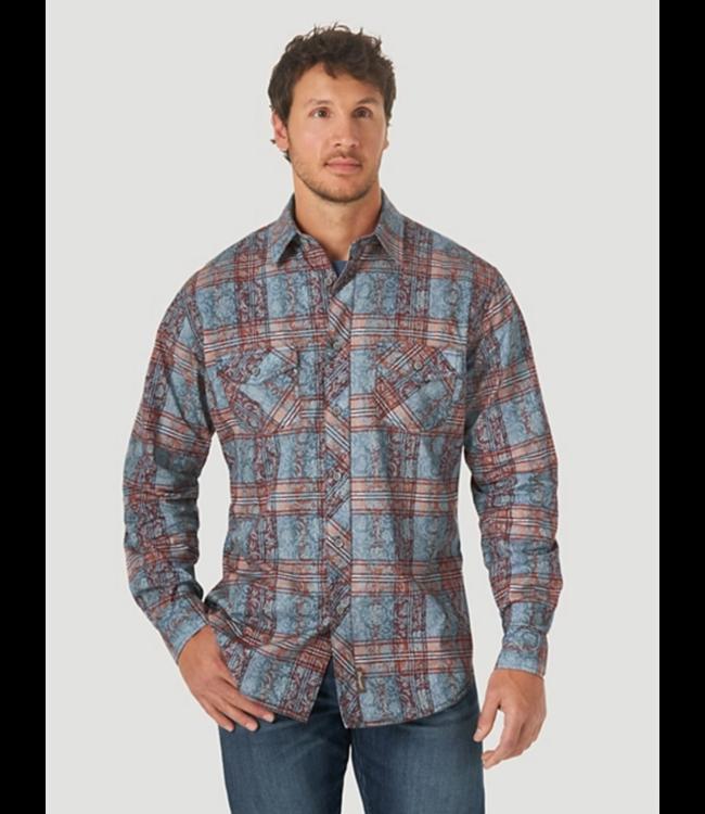 Wrangler Retro Premium Plaid Print Shirt