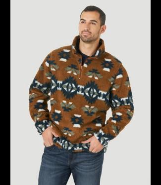 Wrangler 1/4 Zip Sherpa Print Sweater, FINAL SIZE XL