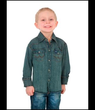 Wrangler Boys Work Western Long Sleeve Shirt