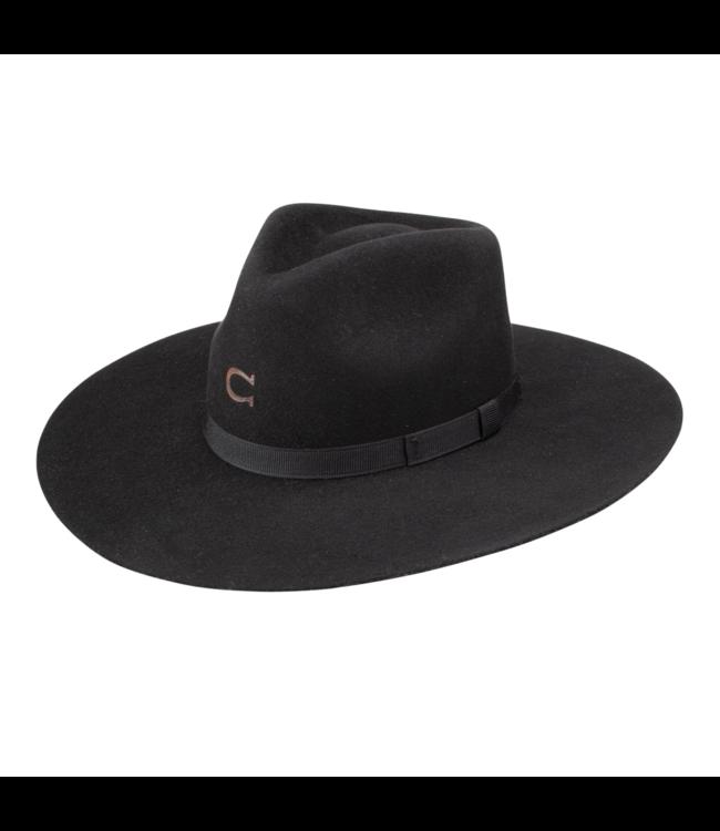 Charlie 1 Horse Highway Jr Youth Felt Hat, Black: OSFM