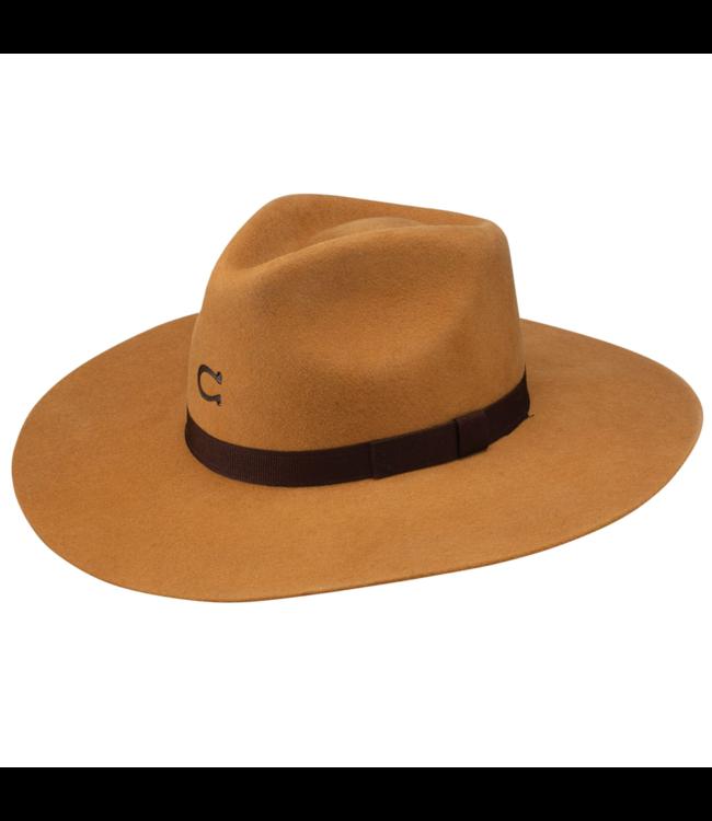 Charlie 1 Horse Highway Jr Youth Felt Hat, Camel: OSFM
