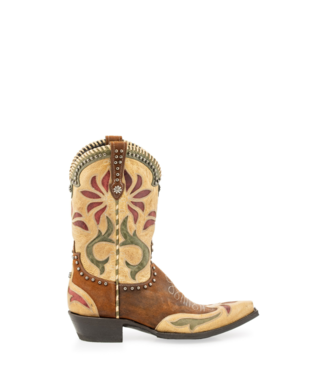 """Double D Ranch Yellowstone 10"""" Boots, Rust/Bone"""