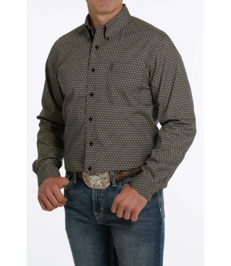 Cinch Fitted Print Shirt