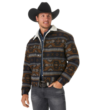 Wrangler Sherpa Lined Jacquard Wool Jacket, FINAL SIZE XXL