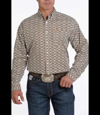 Cinch Classic Fit Print Shirt Brown Print