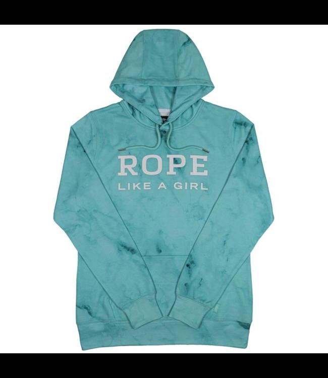 Hooey Rope Like A Girl Turquoise Marble Hoodie