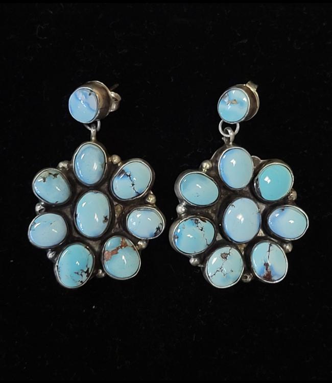 Golden Hills Turquoise Cluster Earrings