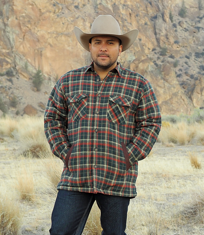 Scully Sherpa Lined Flannel Shirt Jacket
