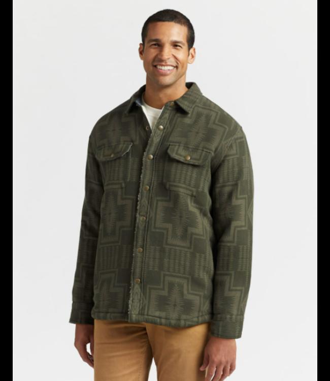 Jacquard Sherpa-Lined Shirt Jacket