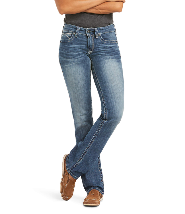 Ariat REAL Mid Rise Straight Leg Jeans