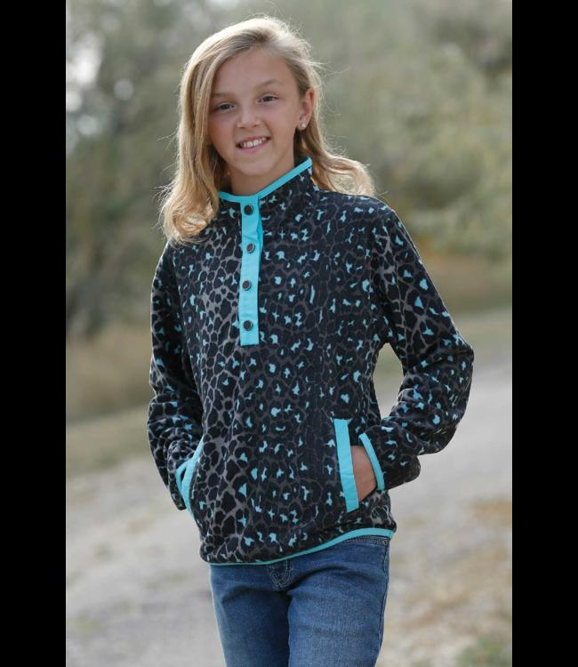 Cinch Girls Printed Polar Fleece Pullover Sweater