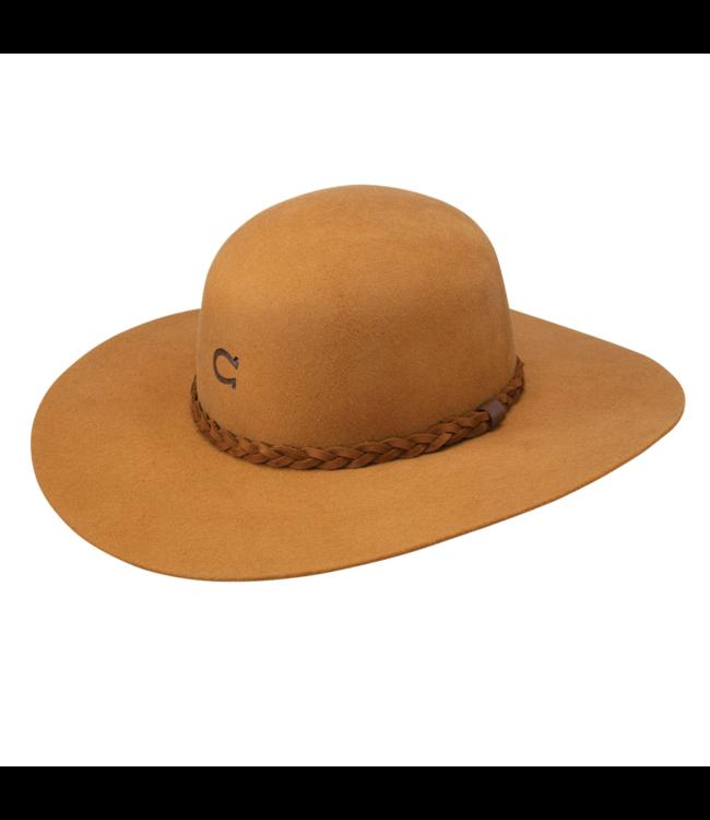 Charlie 1 Horse Wanderlust Jr Youth Felt Hat, Camel: OSFM