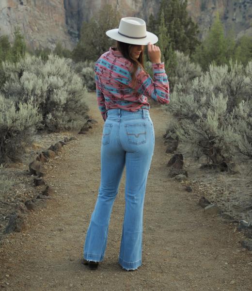 Jennifer Sugar Fade High Rise Trouser