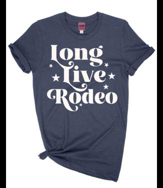 Ali Dee Long Live Rodeo Tee Heather Blue