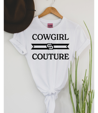 Ali Dee Cowgirl Couture Tee White