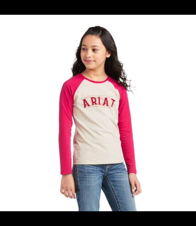 Ariat Girls Aztec Logo Long Sleeve Tee