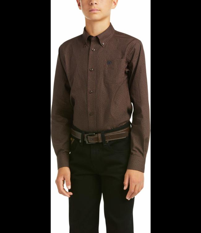 Ariat Boys Merce Print Long Sleeve Button Shirt