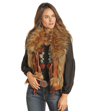Panhandle Slim Faux Fur Fringe Vest
