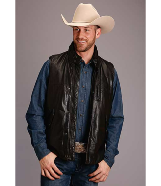 Stetson & Roper Apparel Stetson Leather Reversible Camo Print Vest