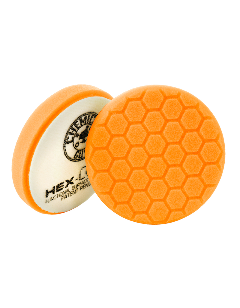 """Hex-Logic BUFX_102HEX4 4"""" Hex-Logic Pad Orange Medium-Heavy Cut Scratch & Swirl Remover Pad- (4""""Inch)"""