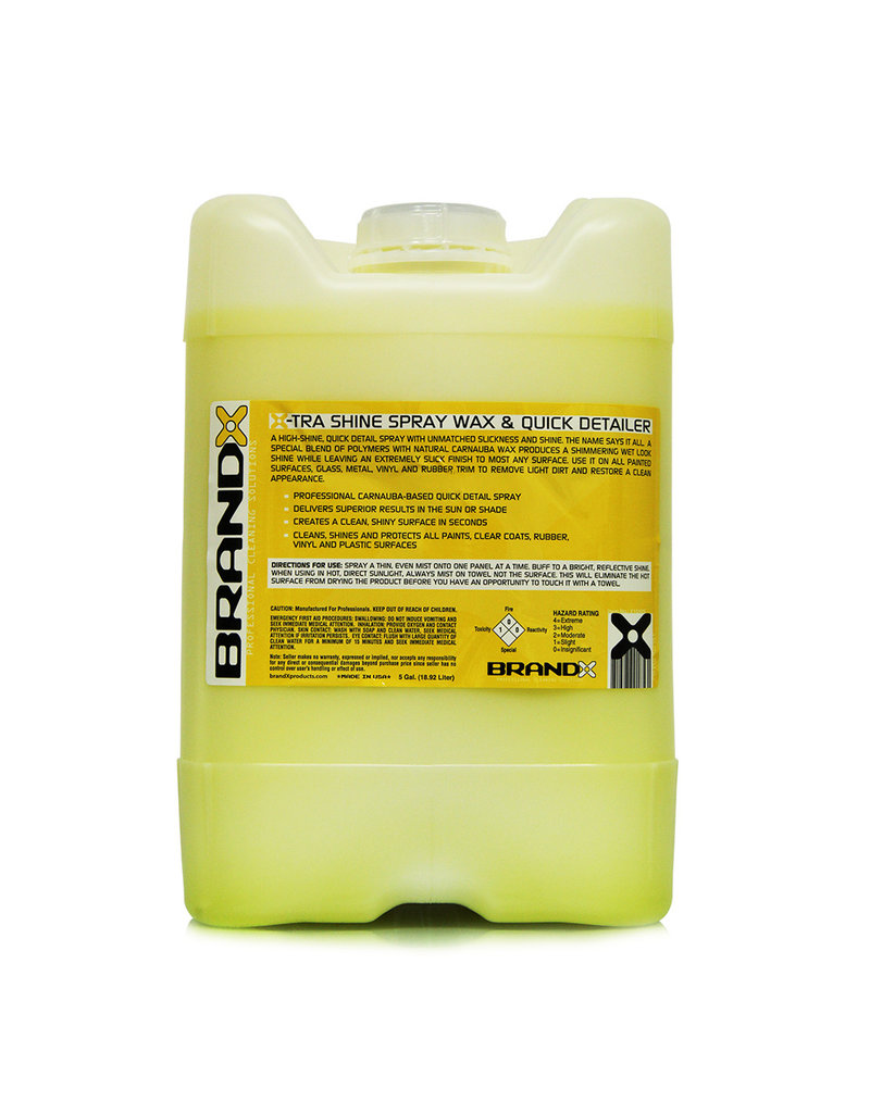 Brand-X X10505 Brand X-TRA Brilliant Spray Shine & Quick Detailer (5 Gal. Cube)