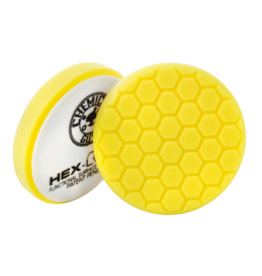"""Hex-Logic BUFX_101HEX6 6.5 """" Hex-Logic Pad Yellow Cutting/Compounding Pad- Chemical Guys Premium Pads -(6.5""""Inch)"""