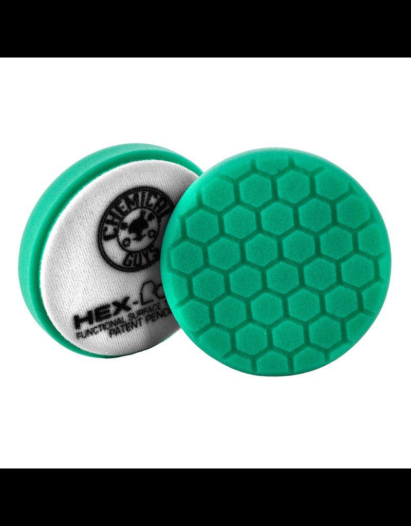 "Hex-Logic BUFX_103HEX4 4 "" Hex-Logic Pad Green Light Cut-Heavy Polish Minor Scratch & Swirl Remover Pad- 4""Inch)"