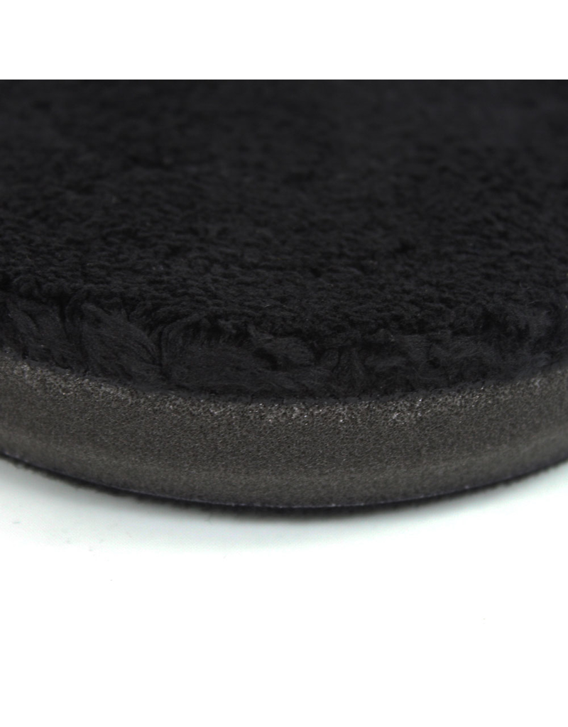 "Chemical Guys BUFX_301_4 4"" Finishing Micro Fiber Pad, Black  Inner Foam, 3/4"" Thickness (1pcs)"